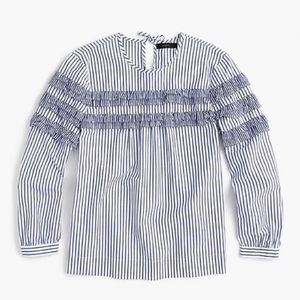 J. Crew | Tiered Top in Mixed Stripes